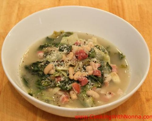 Escarole with Beans and Pancetta